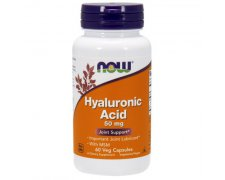 NOW Hyaluronic Acid 50mg  +  MSM 450mg (Kwas hialuronowy i MSM)