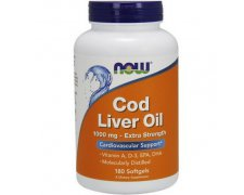 NOW Cod Liver Oil (Tran) 1000mg Extra Strength